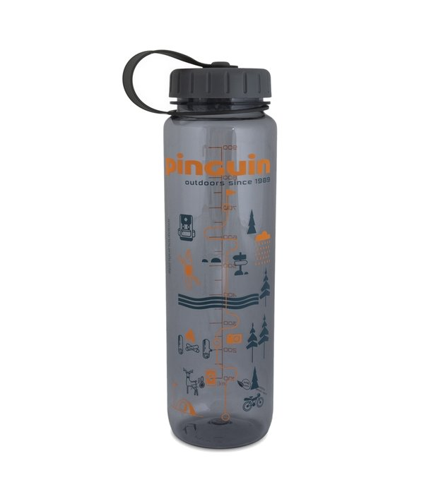 Pinguin Tritan Slim Bottle 1l, šedá